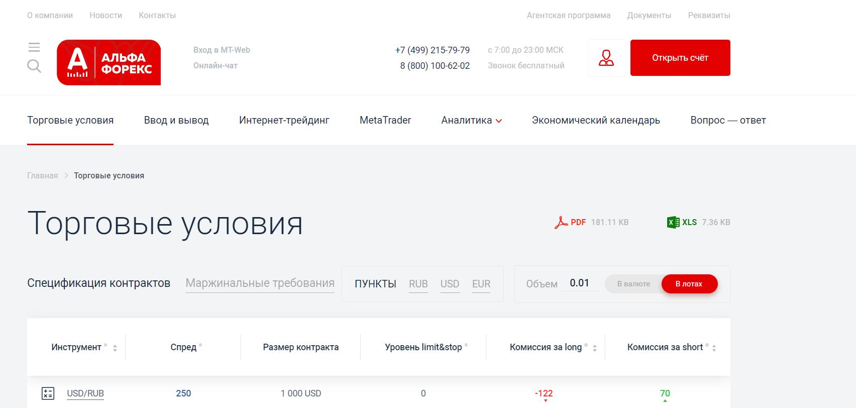 Альфа-Форекс привлекает клиентов стильным и функциональным сайтом