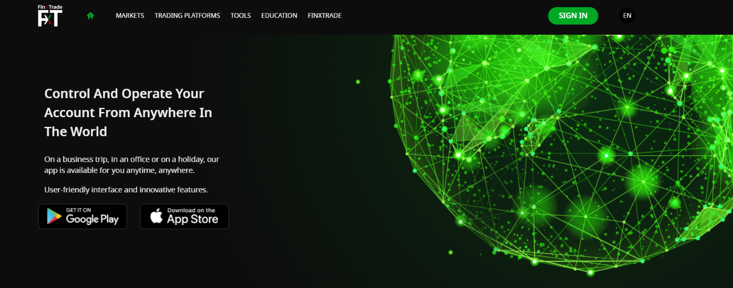 Официальный сайт FinxTrade