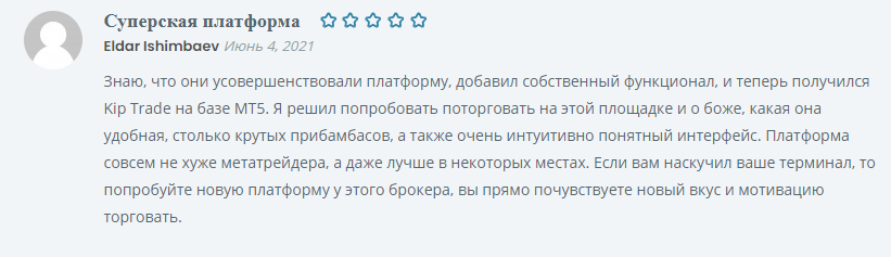 Торговая платформа Kiplar