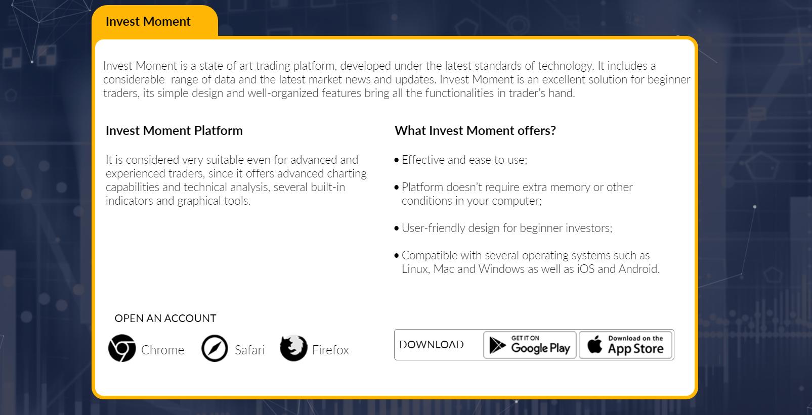 Обзор Invest Moment: компания и её сайт