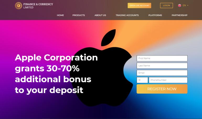 Лохотрон Finance&Currency Limited